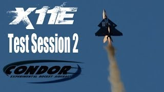 X11E UAV Rocket Test Session - Three flights, first FPV flight!