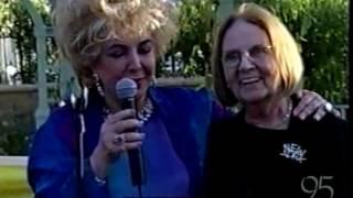 Elizabeth Taylor and Sybil Burton