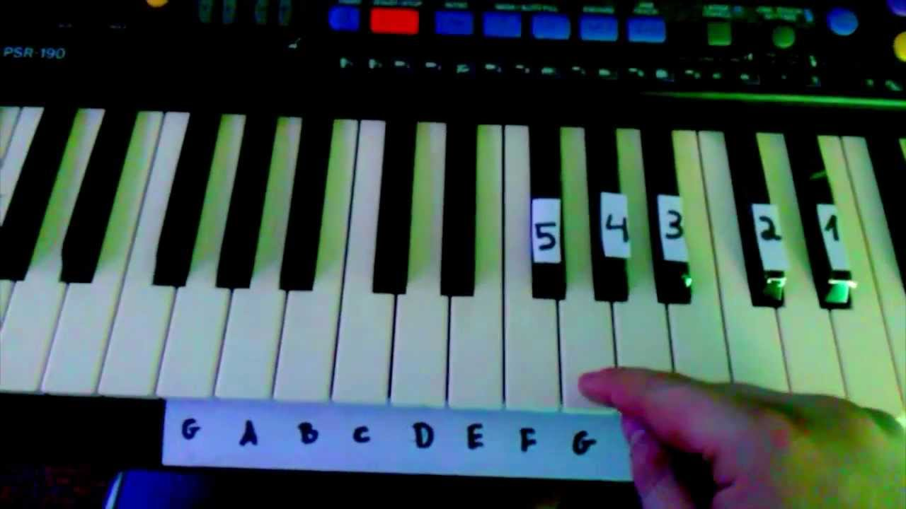 titanic keyboard tutorial mit buchstaben youtube. Black Bedroom Furniture Sets. Home Design Ideas