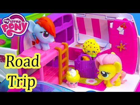 MLP Fash'ems Rainbow Dash Fluttershy Shopkins ROAD TRIP RV Camper My Little Pony Video Series Part 1