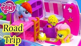 MLP Fash'ems Rainbow Dash Fluttershy Shopkins ROAD TRIP RV Camper My Little Pony Video Series Part 1