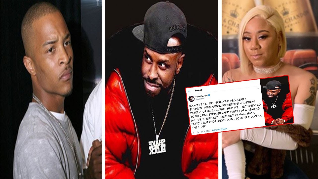 "Funk Flex DEFENDS TI ""Just cause he TESTIFIED doesn't make him a 🐀""+ KatieGotBandz was Out Of Bounds"