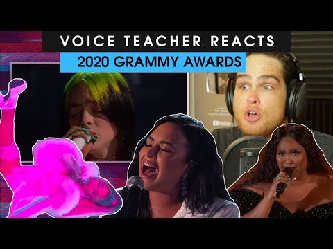 Voice Teacher Analyzes Grammy Performances | Lizzo, Ariana Grande, Billie Eilish, Demi Lovato