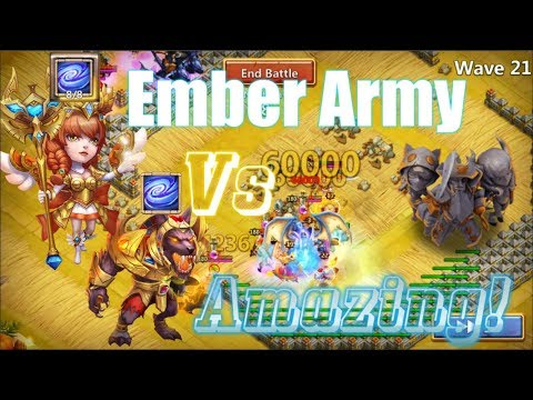 Empower Athene & Anubis VS Ember Army COOL! Castle Clash