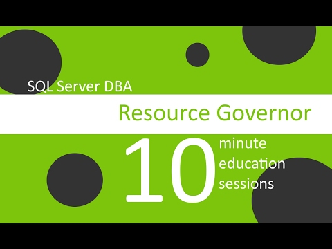 Resource Governor in SQL Server