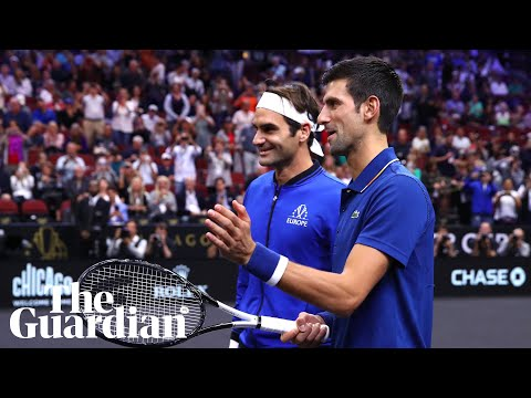 Novak Djokovic accidentally hits Laver Cup doubles partner Roger Federer with ball