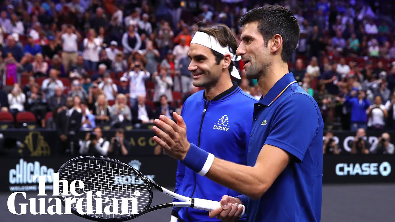 Novak Djokovic Accidentally Hits Laver Cup Doubles Partner Roger Federer With Ball Youtube