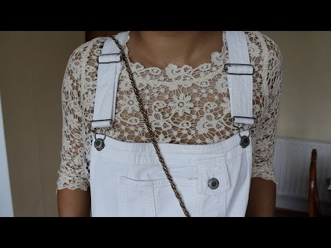 OOTD White Dungarees
