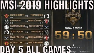 Download MSI 2019 Highlights ALL GAMES Day 5 Group Stage - Mid Season Invitational 2019 Mp3 and Videos