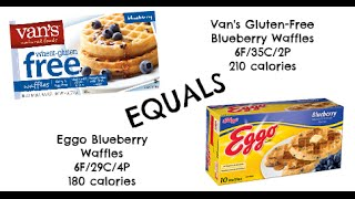 Equals & Alternatives Episode 20: Van's Gluten Free Blueberry Waffles And Eggo Blueberry Waffles
