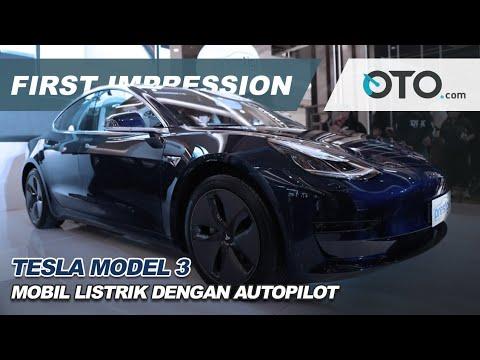 Tesla Model 3 First Impression Mobil Listrik Dengan Autopilot Oto Com Youtube