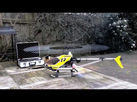 How to Start a Nitro RC Helicopter, and Hatori Exhaust Comparisons