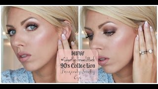 NEW #ColourPopThrowsItBack 90's Fall Collection ♡ Burgundy Smoky Eye Tutorial
