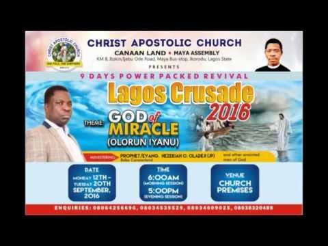 LAGOS STATE CRUSADE ADVERT