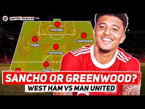 SANCHO DROPPED By Solskjaer?   West Ham vs Man United   Predicted Starting XI   Premier League