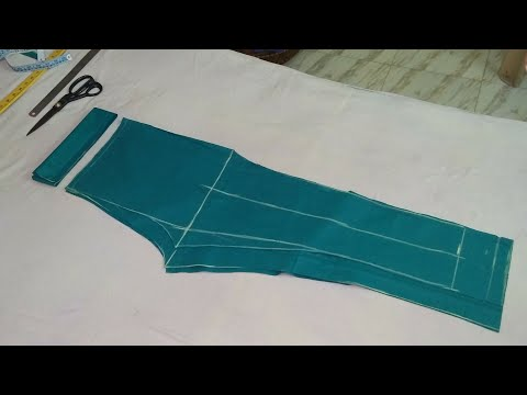 Narrow plazo pant, women's trouser, cutting and stitching,how to cut and stitch plazo pant for women