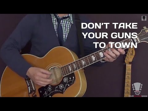 Don't Take Your Guns To Town by Johnny Cash - Guitar Lesson