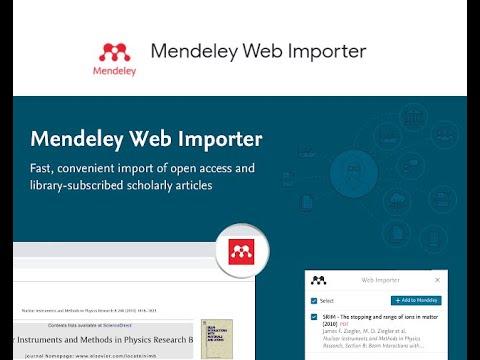 Instalar Mendeley Web Importer    Mendeley Web Importer    Mendeley Web Importer Para Google Chrome