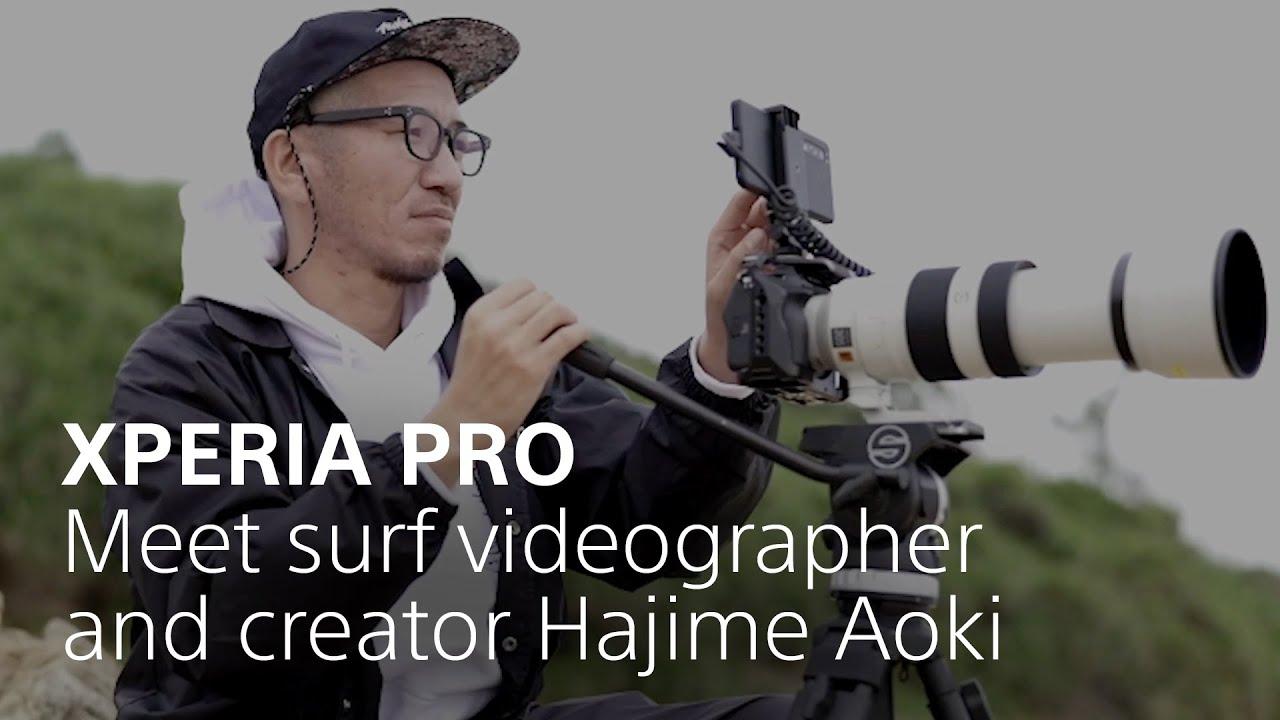 Xperia PRO – Meet surf videographer and creator Hajime Aoki
