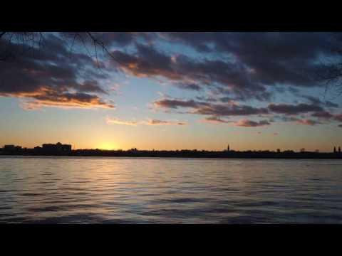 Sunset Over Montreal Island April 08 2017