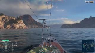 World of Warshipsのプレイ動画です。位置的になんとなく一緒に行動する...