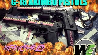 WE Tech G18c Review (Akimbo - Extended - Silencers (Hawke