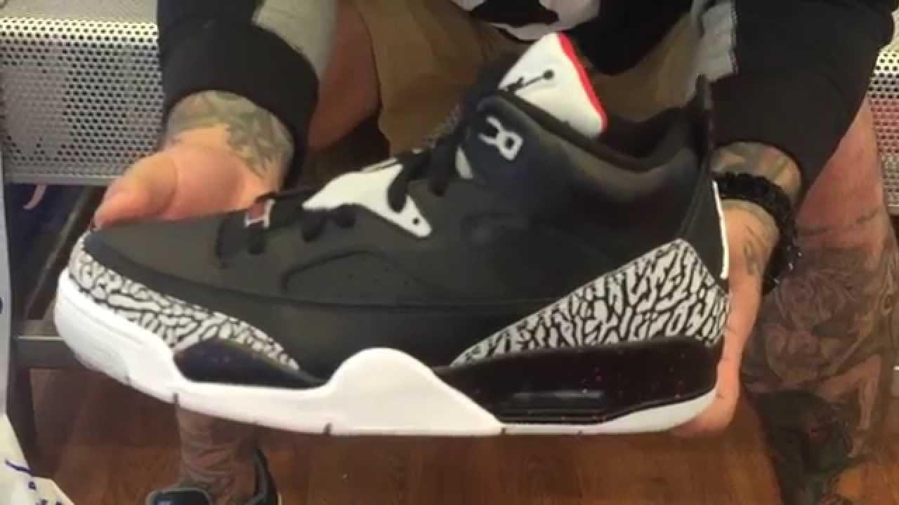 purchase cheap b5fec 83908 Jordan Son Of Mars Low Black Cement 2015