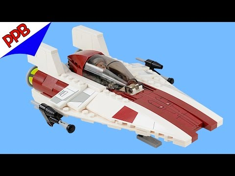 Star Wars: A-wing starfighter / Lego stop motion animation build 75003