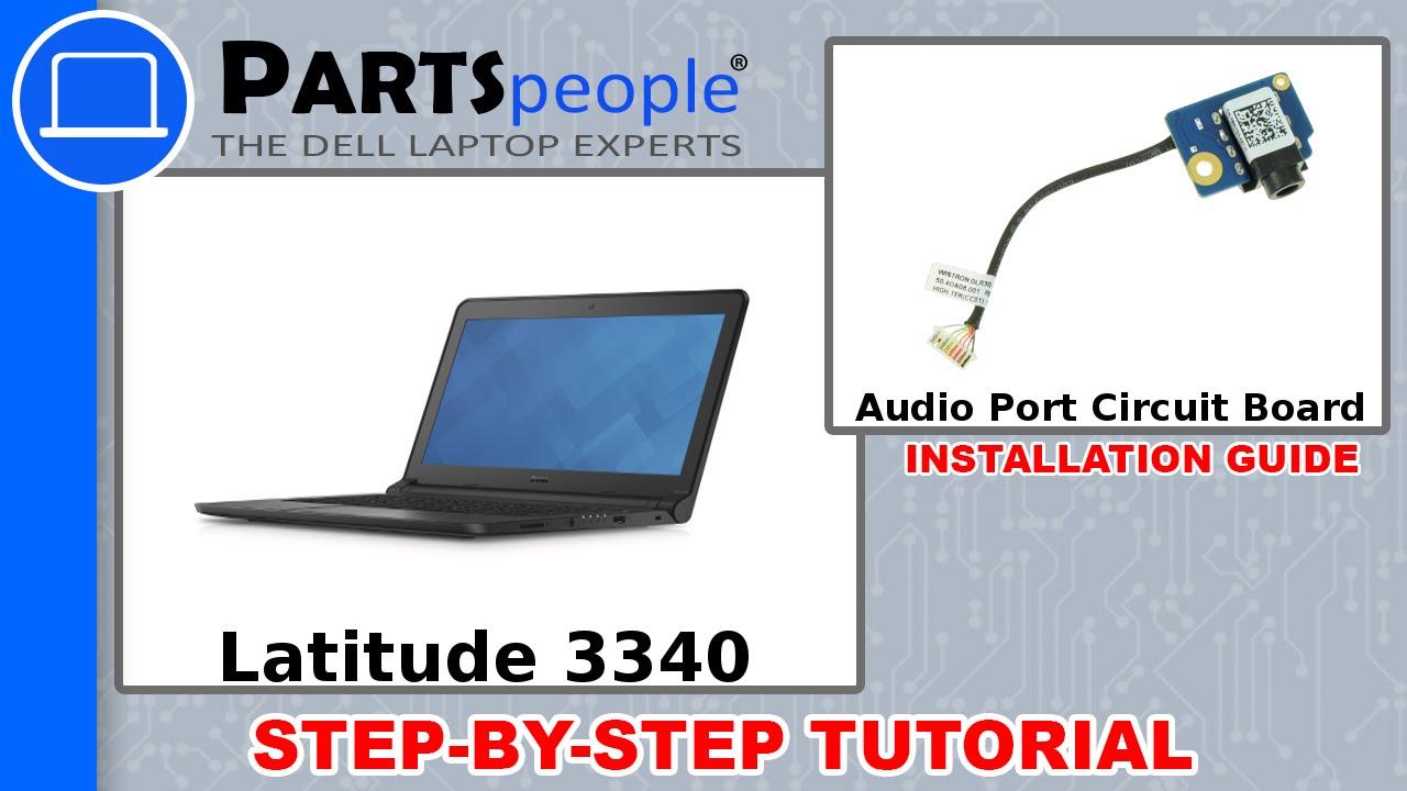 Dell Latitude 3340 Audio Port Circuit Board How-To Video Tutorial
