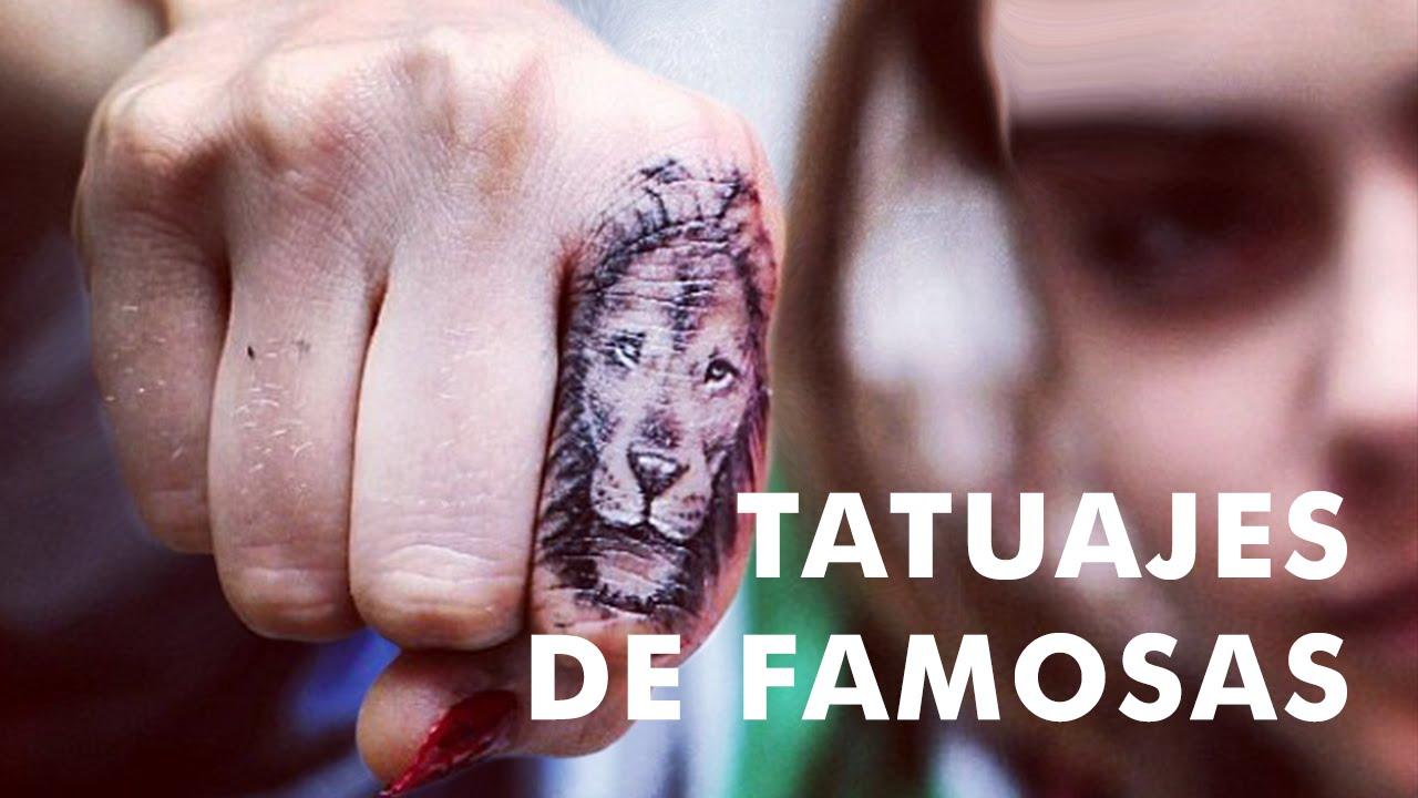 20 Tatuajes Pequeños De Famosas Youtube