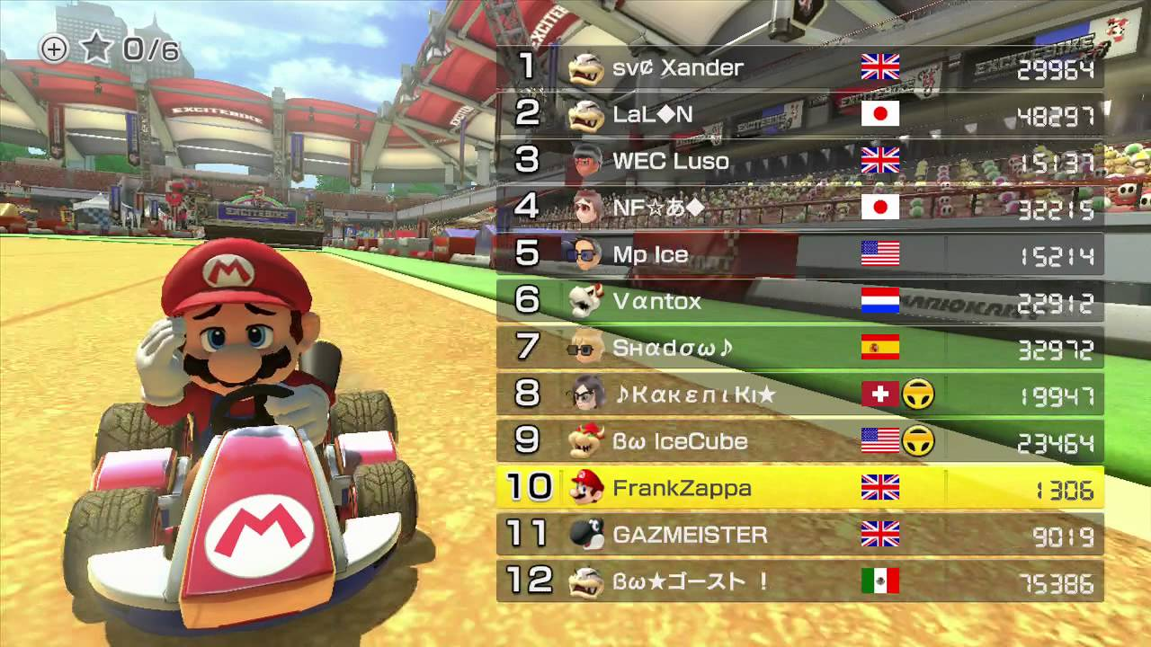 Mario Kart 8 Mk8 Online The Best Players In The World