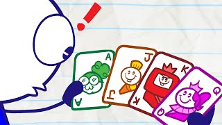 Pencilmate's Poker Panic | Animated Cartoons Characters | Animated Short Films | Pencilmation