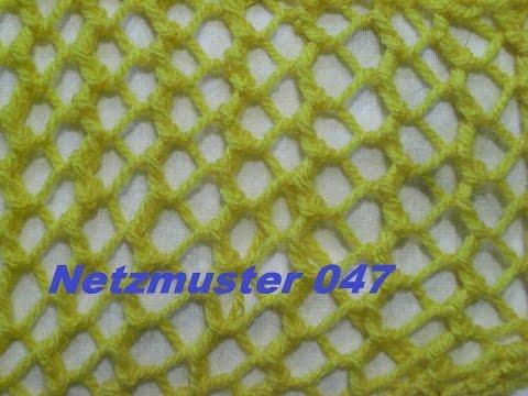 Lochmuster Ajourmuster Netzmuster 047*Stricken lernen*Muster für Pullover*Mütze*Tutorial Kreativ