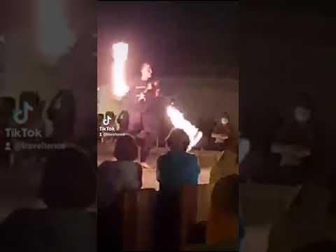 Dubai Desert Night fire Show  #ytshorts #shorts