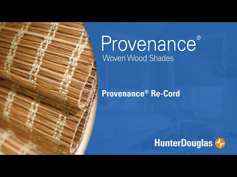 Provenance® Woven Wood Shades - Re-Cord - Hunter Douglas