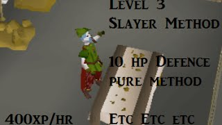 (Low) Slayer Exp Method for Skillers / Any combat pure / 300-400 exp per hour (OSRS)