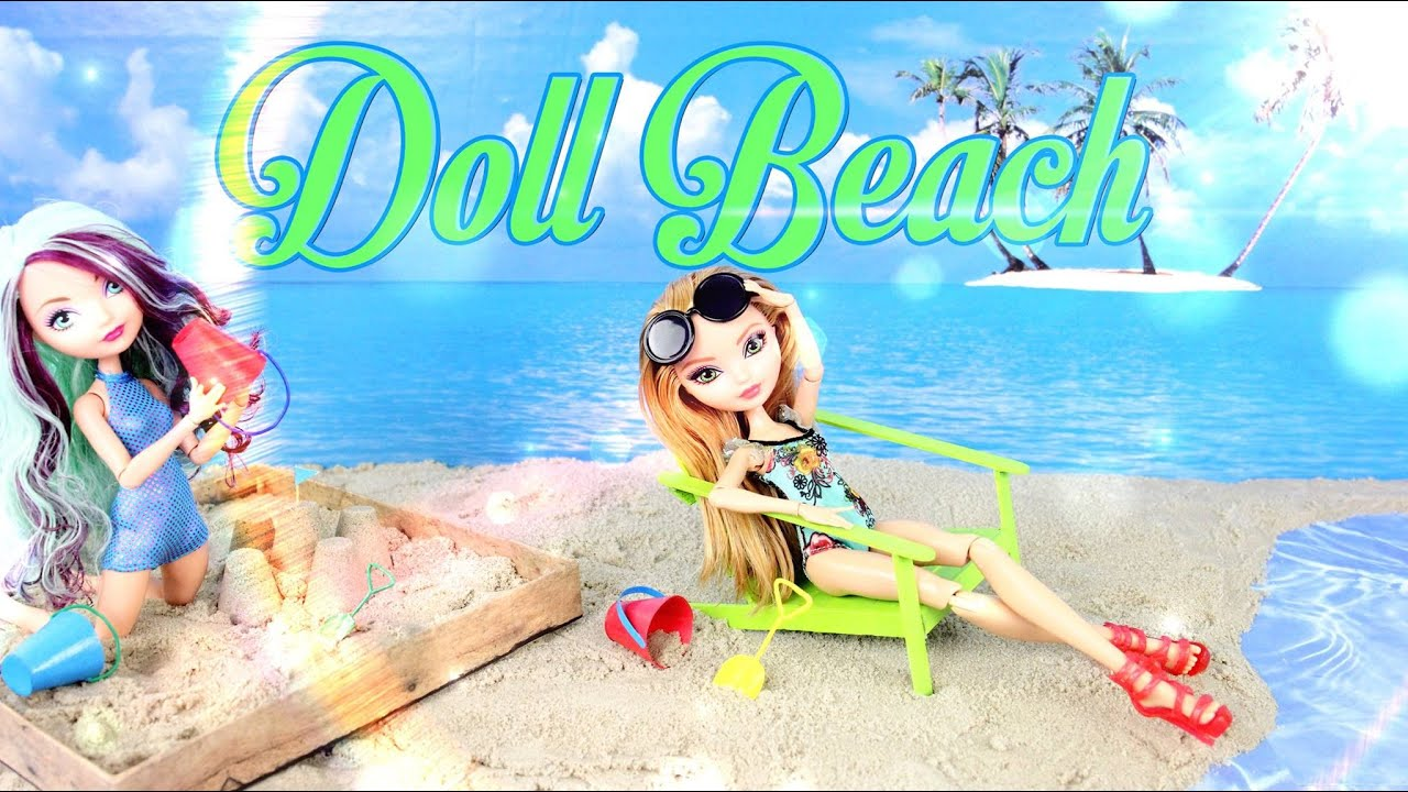 Diy How To Make Doll Beach Handmade Doll Crafts Youtube