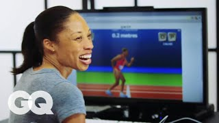 Allyson Felix and Team USA Runners Play Online Game 'QWOP' | GQ