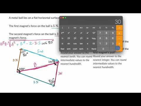 Vector word problem: resultant force | Vectors | Precalculus | Khan Academy