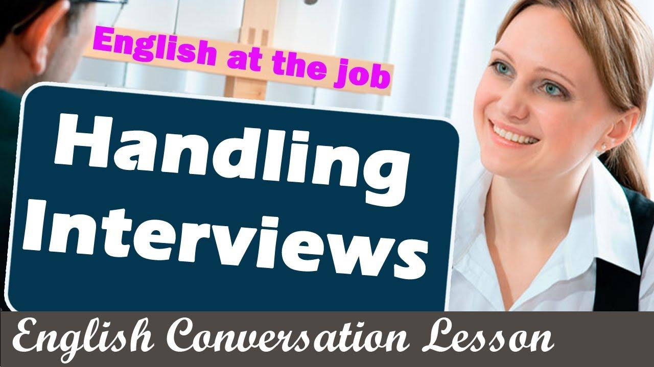 Job Interview Wikipedia Handling Interviews English At The Job English