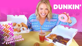 Trying ALL Of The Most Popular Menu Items At Dunkin' Donuts