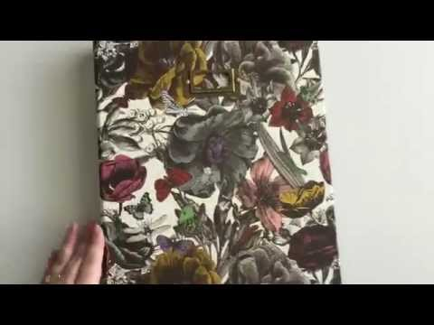 Custom Planner - Floral, 3 ring binder