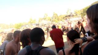 Dude Realizes He is At The Wrong Concert When The Mosh Pit Starts (Loud)