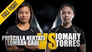 ONE: Full Fight | Priscilla Hertati Lumban Gaol vs. Jomary Torres | All-Around Game | September 2018