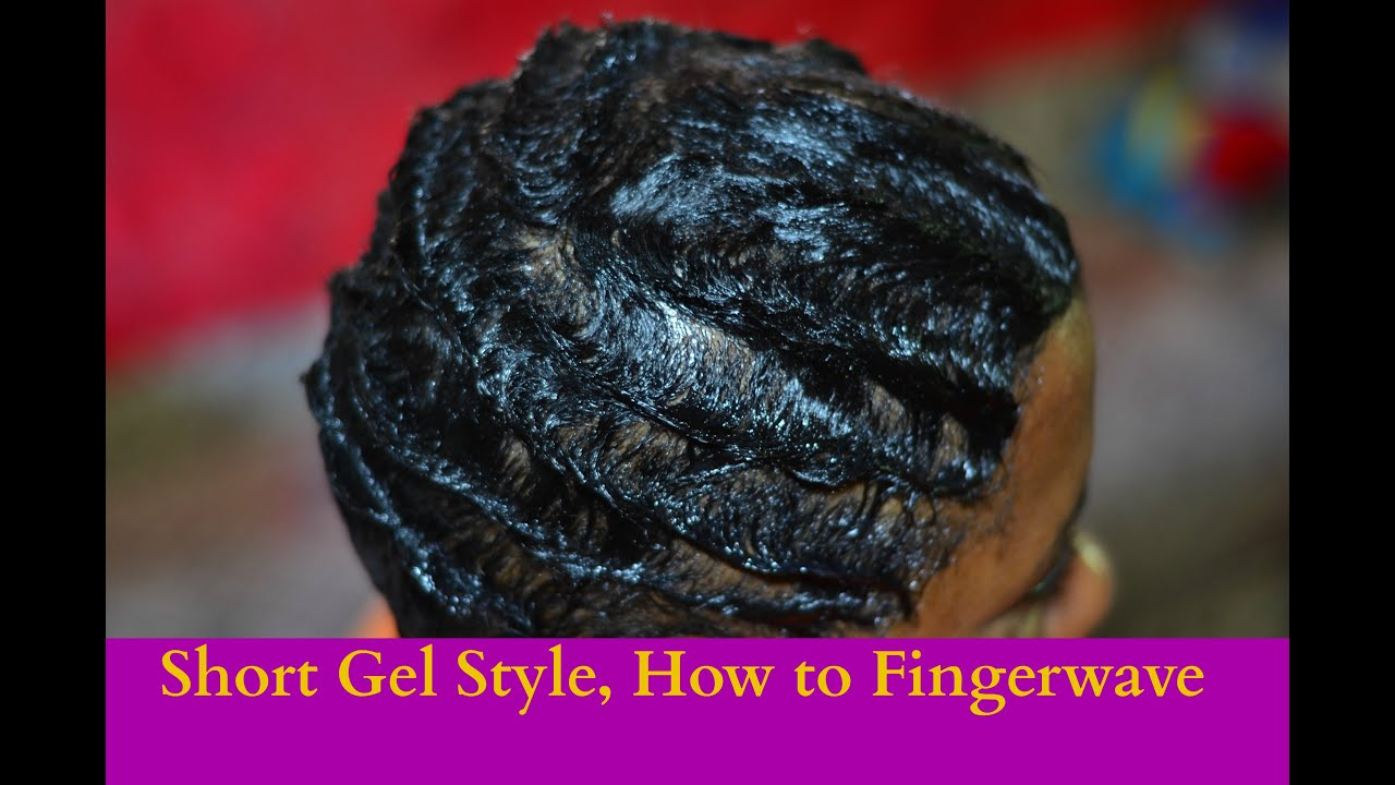 How To Short Hair Gel Style Fingerwave Tutorial First Attempt You