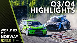 Qualifying 3 & 4 Highlights | 2019 Team Verksted FIA World Rallycross of Norway