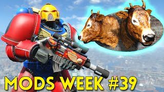 Fallout 4 TOP 5 MODS (PC & XBOX) Week #39 - SPACE MARINE, BoS QUEST, MASSIVE BUNKER
