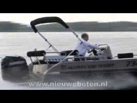 Nieuw Alumax 660 Tender aluminium consoleboot - YouTube SX-68