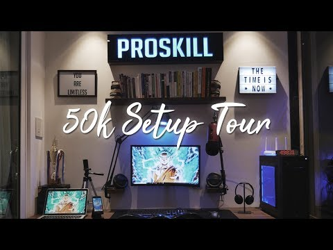 PRO'S 50K GAMING/EDITING SETUP TOUR 2018!? thumbnail