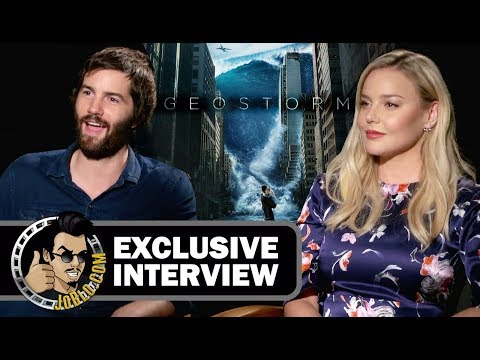 Jim Sturgess and Abbie Cornish Interview - GEOSTORM (2017) climate disaster movie streaming vf